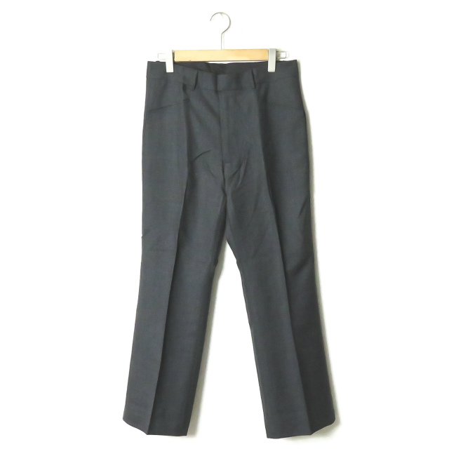 bukht ブフト 18AW 日本製 CLASSIC TROUSERS CHARCOAL PIN CHECK ピンチェック クラシックトラウザーズ BV-95812 2(M) ダークグレー パンツ スラックス 微フレア ボトムス【新古品】【中古】【bukht】
