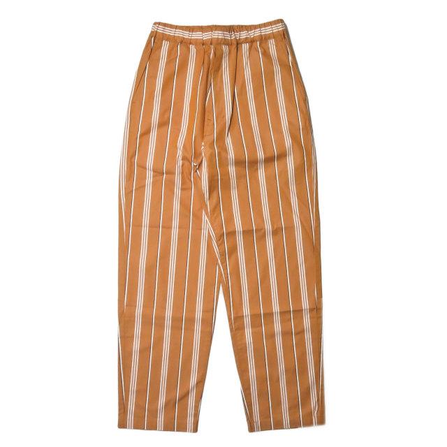 WELLDER ウェルダー 19SS 日本製 Drawstring Easy Trousers ドローストリングイージートラウザーズ WM19SPT11 3 Amber(オレンジ) パンツ ストライプ 超長綿FINX ボトムス【新古品】【中古】【WELLDER】