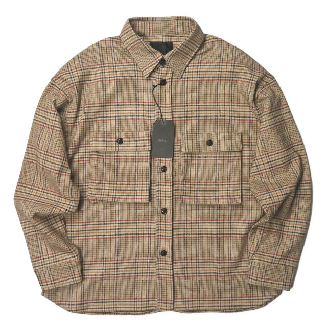 bukht ブフト 19AW 日本製 CPO SHIRTS - OVER CHECK FAB オーバーチェックCPOシャツ BV-45208 2(M) ベージュ 長袖 シャツジャケット トップス【新古品】【中古】【bukht】
