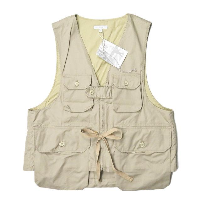 Engineered Garments エンジニアードガーメンツ 20SS アメリカ製 Game Vest - High Count Twill ゲームベスト ハイカウントツイル GH211A M カーキ ジレ ハンティング トップス【新古品】【中古】【Engineered Garments】