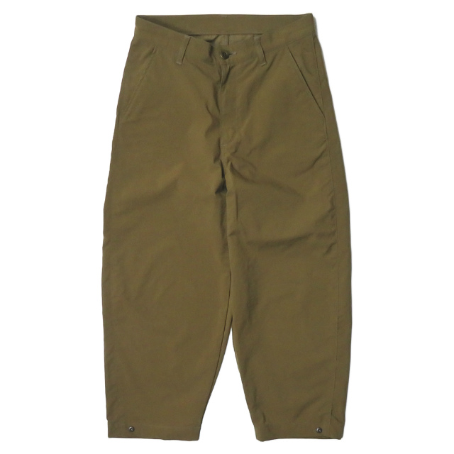 WhoWhat フーワット 20SS 日本製 4 POCKET PANTS ナイロンオックス 4ポケットパンツ S ブラウン BREATHABLE WATER PROOF 撥水 ワイド ボトムス【中古】【WhoWhat】