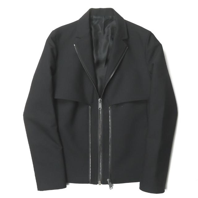 BALENCIAGA バレンシアガ イタリア製 ジップデザイン テーラードジャケット 244818 TT844 44 ブラック ブルゾン アウター【中古】【BALENCIAGA】
