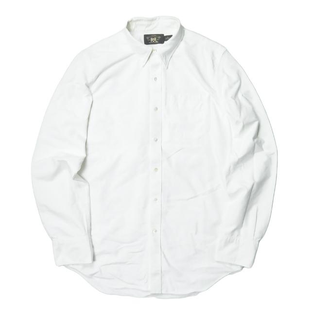 RRL ダブルアールエル L/S B.D OXFORD SHIRTS 隠しボタンダウンオックスフォードシャツ M ホワイト 長袖 BD トップス【中古】【RRL】