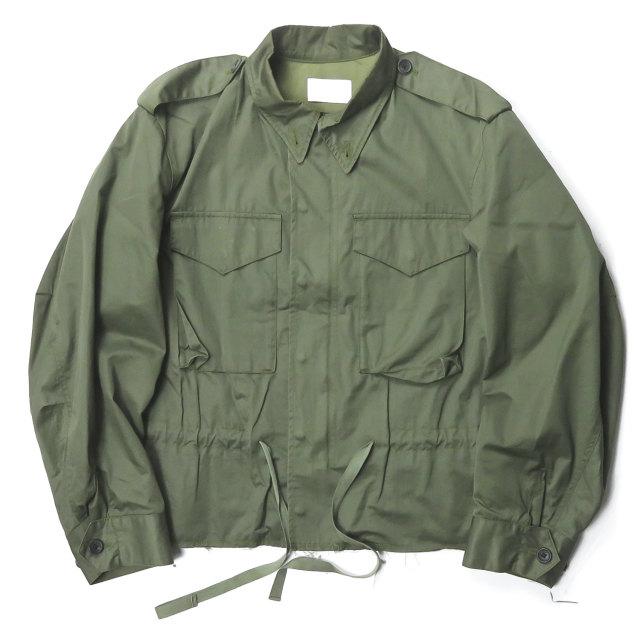 URU 200927QWE ウル ついに再販開始 16SS 日本製 M-65 Military Jacket カットオフショートミリタリージャケット 16SUJ04 アウター 2 中古 オリーブ 安全