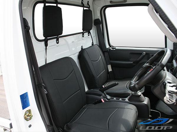 ダイハツ ハイゼットトラック S201P S221P専用 パンチングレザー シートカバー H23.12~H26.8 LKS-4