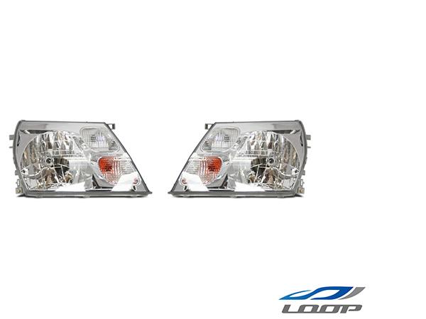 グランドハイエース 10系 16系 純正タイプ ヘッドライト 左右セット H11.8~14.5