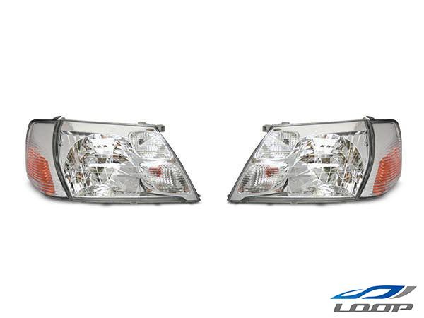 グランドハイエース 10系 16系 純正タイプ ヘッドライト コーナーレンズ 4点セット H11.8~14.5