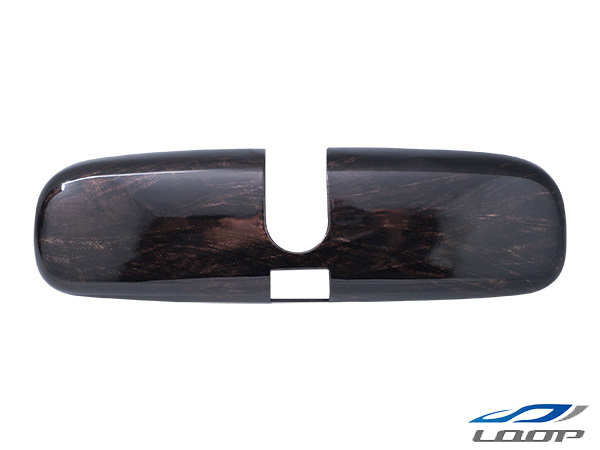 ハイエース 200系 レジアス スーパーGL 標準 ワイド ミラー サイド ドア 電動 黒木目マホガニー調 1P NEW ルームミラーカバー 鏡 新着 6型対応 ダークプライム H16~ 交換 メッキ