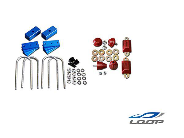 ハイエース 200系 アルミ製 調整式 ローダウンブロック (40~80mm) 4WD用 バンプストップ リバウンドストップ セット H16~
