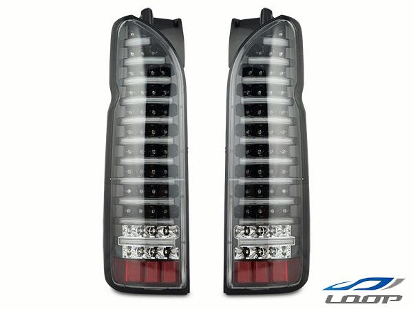 ハイエース 200系 レジアス スーパーGL 大注目 標準 ワイド テールランプ 正規販売店 LED ドレスアップ インナーブラック レジアスエース 6型対応 H16~ ファイバールックLEDテールランプ クリア クリアレンズタイプ