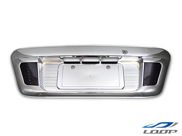 ハイエース レジアスエース 200系 LED内蔵リアナンバーガーニッシュ オールメッキ スモークレンズタイプ H16~