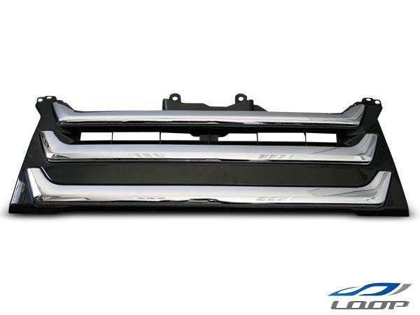 ハイエース パーツ グリル パーツ カスタム レジアスエース 200系 4型 標準ボディ用 純正オプションタイプ メッキグリル H25.12~