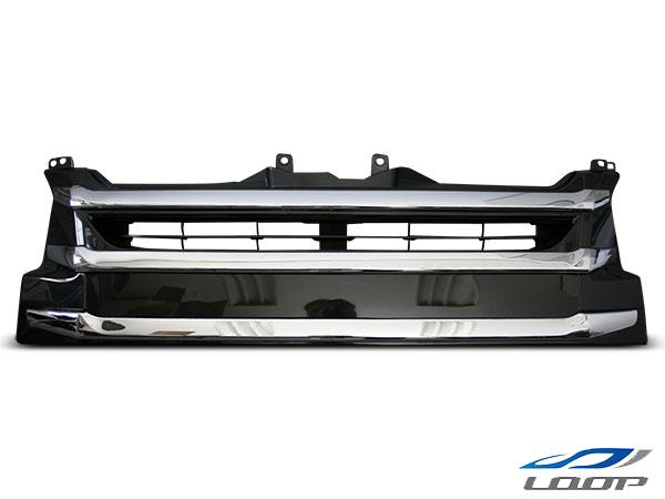 ハイエース グリル パーツ レジアスエース 200系 4型 ワイドボディ用 純正オプションタイプ メッキグリル H25.12~