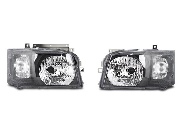 ハイエース レジアスエース 200系 1型 2型 ブラックインナー ヘッドライト H16~H22.7
