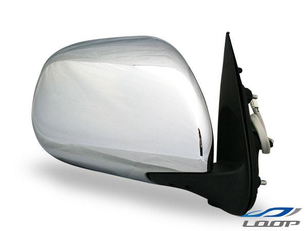 ハイエース 200系 レジアス スーパーGL 標準 ワイド ミラー サイド ドア 電動 宅配便送料無料 メッキ R 交換 S-GL H16~ 電動調整 メッキドアミラー 電動格納 鏡 運転席側 公式 レジアスエース