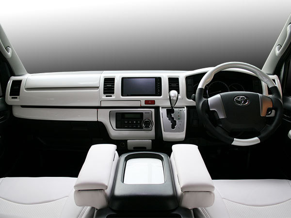 ハイエース 200系 4型 5型 S-GL 標準ボディ用 インテリアパネル 16P パールホワイト カラーNo.070 H25.12~