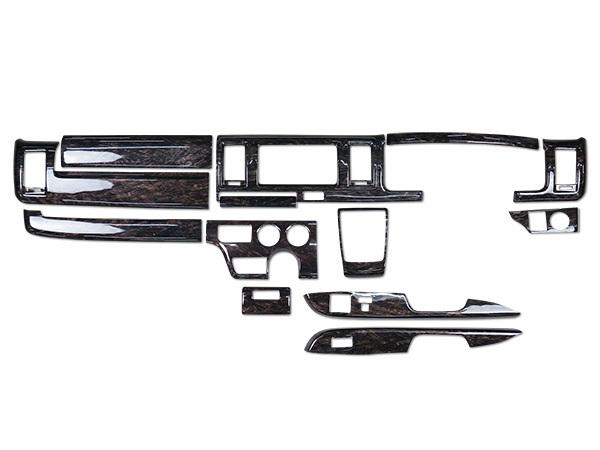 ハイエース 200系 4型 5型 標準ボディ DX DX/GLパッケージ専用 ダークプライム 黒木目マホガニー調 インテリアパネル 13P H25.12~