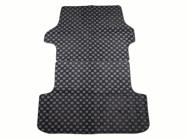 新作製品 世界最高品質人気 ハイエース 200系 レジアス スーパーGL 標準 ワイド アクセサリー メッキ 綾織 H16~ グレー ドレスアップ 本日の目玉 標準ボディ用 チェック柄 ブラック リアラゲッジマット 6型対応