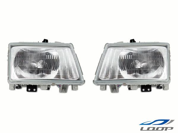 ジェネレーションキャンター トラック ヘッドライト ベッドキット クリスタル 70系 80系 標準 三菱ふそう H14.7~H22.10 FE70 FE80 純正タイプ パーツ メーカー公式 ワイドボディ 左右セット 本日限定