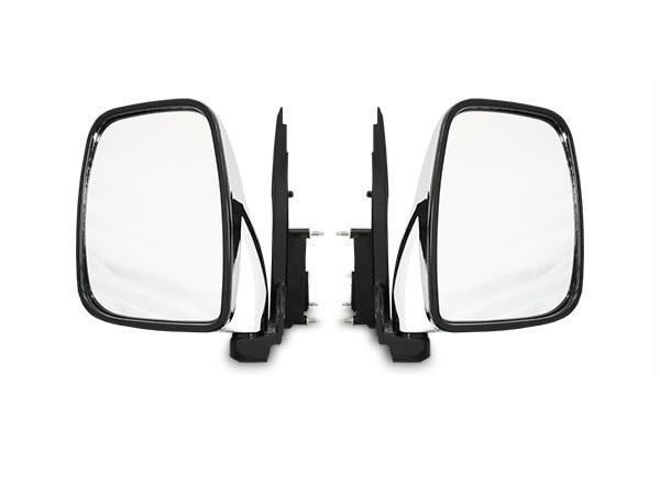 キャラバン ミラー サイド ドア 電動 メッキ 人気上昇中 交換 鏡 パーツ 交換タイプ メッキドアミラー 純正タイプ 左右セット 別倉庫からの配送 H24.5~ E26系 DX NV350
