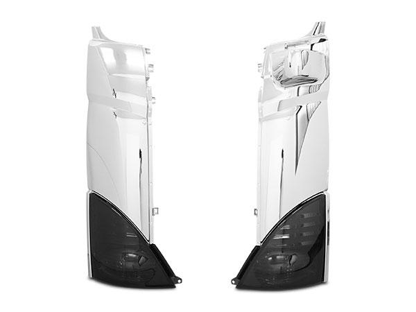 プロフィア メッキコーナーパネル 交換タイプ スモークコーナーレンズ ウインカーレンズ セット H15.11~H29.3