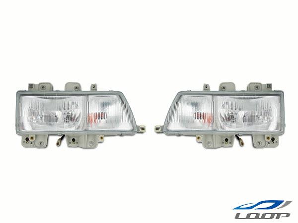 エルフ ヘッド いすゞ トラックパーツ 2tエルフ NEWエルフ 標準ボディ ワイドボディ用 純正タイプ ヘッドライト 左右セット H5.7~H16.5