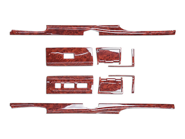三菱ふそう 07 スーパーグレート ドア用 インテリアパネル 10P 茶木目調 H19.4~