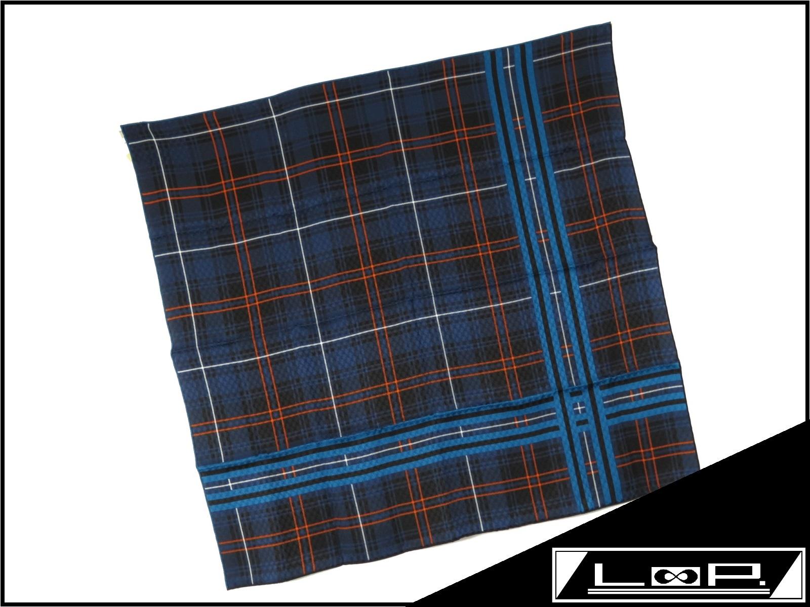 【未使用】 HERMES エルメス カレ 70 スカーフ ブルー 青 ネイビー ジャガード シルク 【A17953】 【中古】
