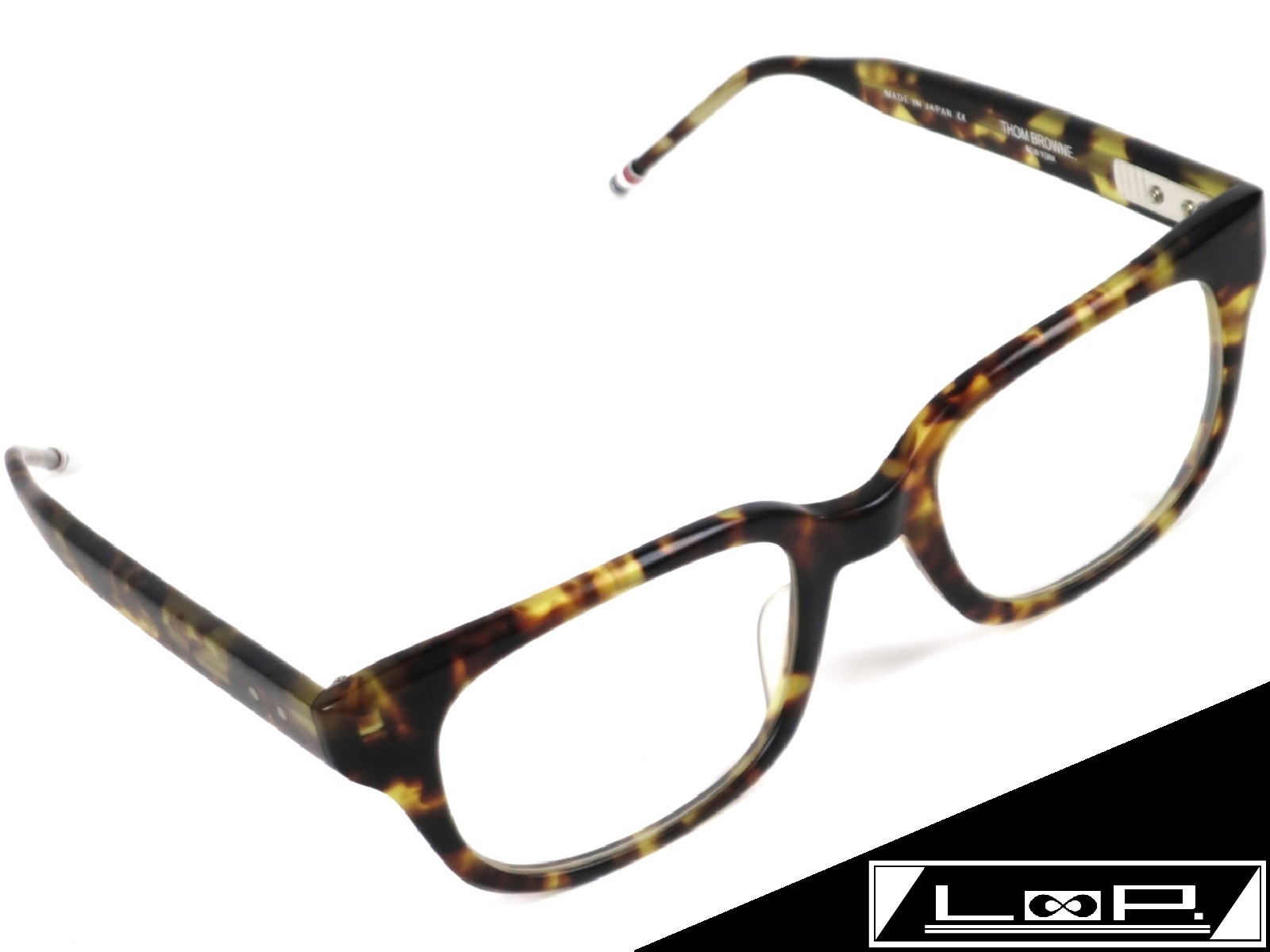 【SALE】【未使用】 THOM BROWNE トム ブラウン メガネ 眼鏡 TB-401-B-TKT 49.5□21-148 べっ甲 サングラス ブラウン イエロー 【A15893】 【中古】