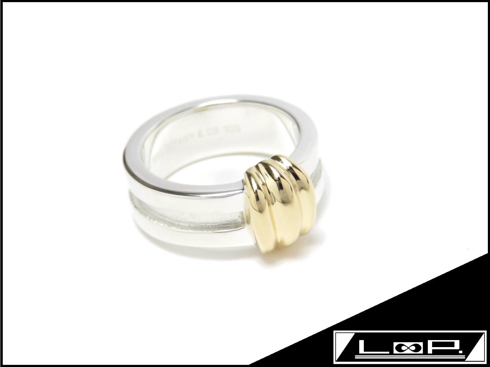 【磨き済 新同】 TIFFANY&Co. ティファニー リング 指輪 アクセサリー コンビ ゴールド シルバー K18 YG 750 SV 925 【A24577】 【中古】