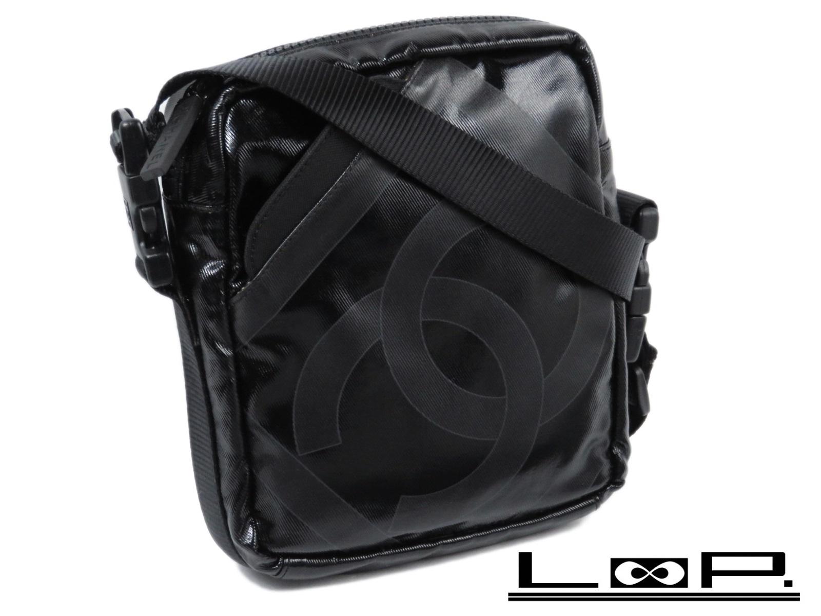 【CHANEL】 シャネル ココ ショルダー バッグ スポーツ ライン PVC ブラック クロ 黒 【A26568】 【中古】