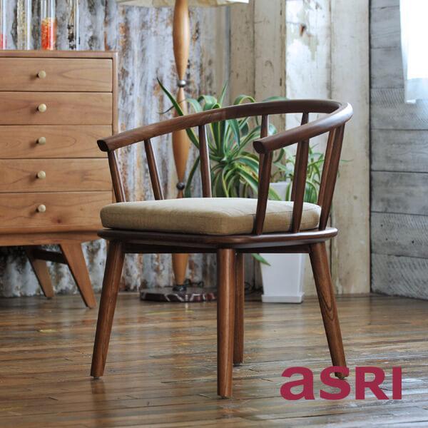 アスリー Farm Chair with cushion ファームチェア(クッション付き) 北欧家具 アジアンモダン アジアン家具 木製 北欧モダン インテリア リゾート 家具 天然木 loop ループ TBCHA-48