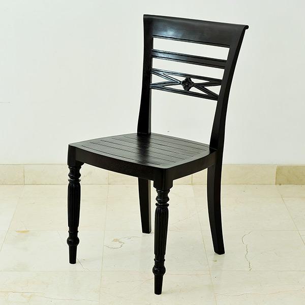 【セール】カービングがおしゃれなヨーロピアンアンティーク風チェア(バリ家具 チーク材 リゾート モダン チェア 椅子 ダイニングチェア デスクチェア ヨーロピアン スタイル インテリア イス 無垢 木製 チェアー loop アジアン アジアン家具 ウッドチェア)【A-149-A】