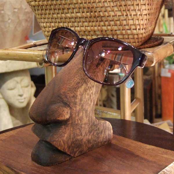 アジアン雑貨 おしゃれ かわいい アジアン バリ 雑貨 日本正規代理店品 おしゃれ雑貨 アジアン風 オシャレ 並行輸入品 メガネスタンド 実店舗で激売れのユニーク商品 メガネ置き 木製 眼鏡置き サングラス メガネホルダー 眼鏡スタンド エスニック 眼鏡 インテリア 部屋 バリ雑貨 45855 リゾート めがねスタンド