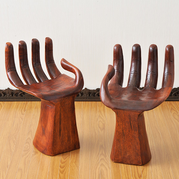 あまりのインパクトに目が釘付けになるインパクトスタンド Seasonal Wrap入荷 木製仏手チェア 往復送料無料 スタンド アジアン雑貨 アジアン家具 バリ 木製 チーク スクエアスタンド アルベシア ユニーク チェアー チェア モダン 椅子 置物 エスニック イス hand-chair おしゃれ リゾート アジアンテイスト ウッドチェア 玄関 インテリア 木製チェア オブジェ いす