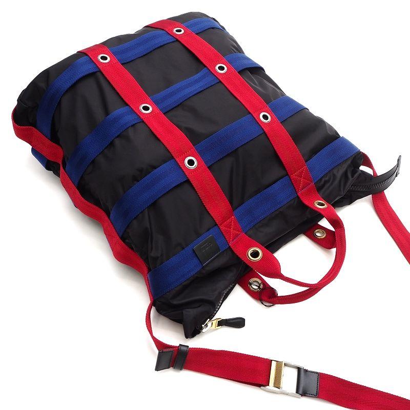 未使用品 dunhill ダンヒル イタリア製 ボストンバッグ ショルダーバッグ ブラック×レッド×ブルー SYM お買い得品 HM 5MLD5 ANOV21 メンズ 希少 大容量 K01338