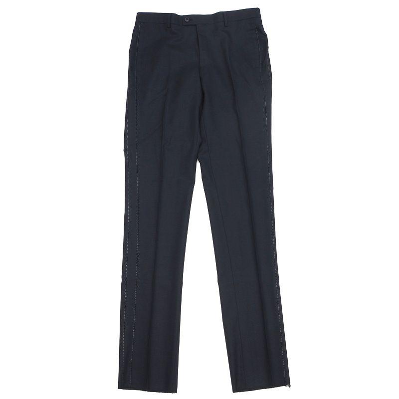 新品 LANVIN COLLECTION スラックス パンツ サイズ:85 ネイビー メンズ [正規販売店] 予約 2GHD1 E02625 FJUN22 ランバンコレクション マイクロ千鳥格子
