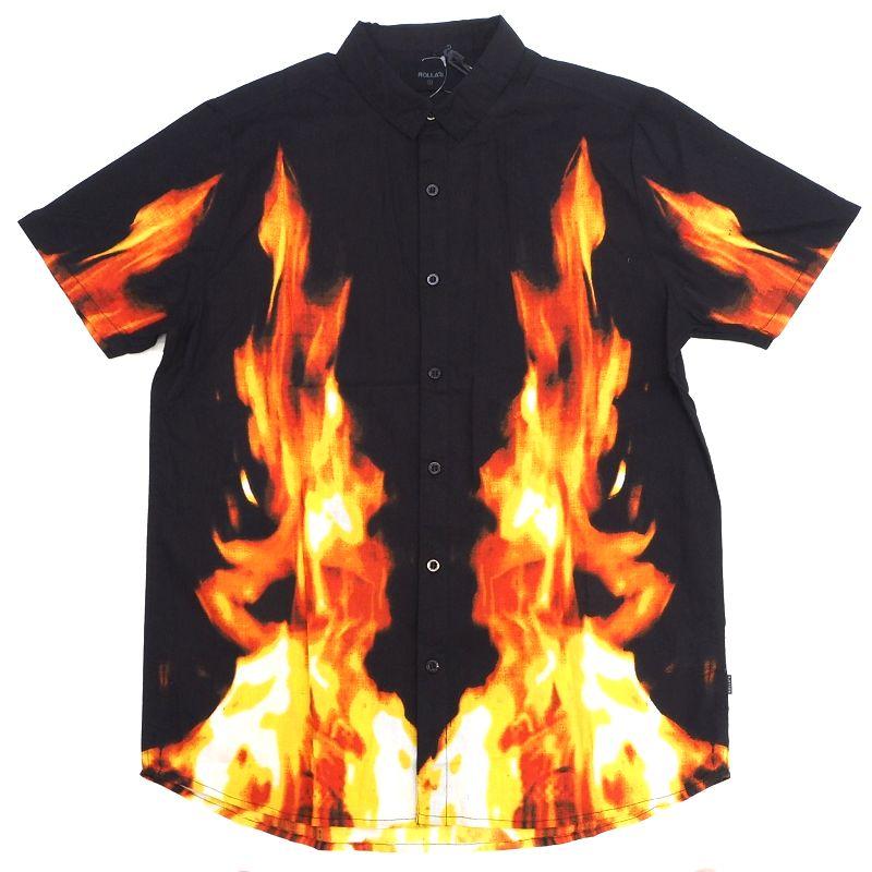 直営ストア 新品 送料無料 ROLLA'S 半袖シャツ サイズ:S ブラック SMCL 2F3 メンズ 18149 ローラス