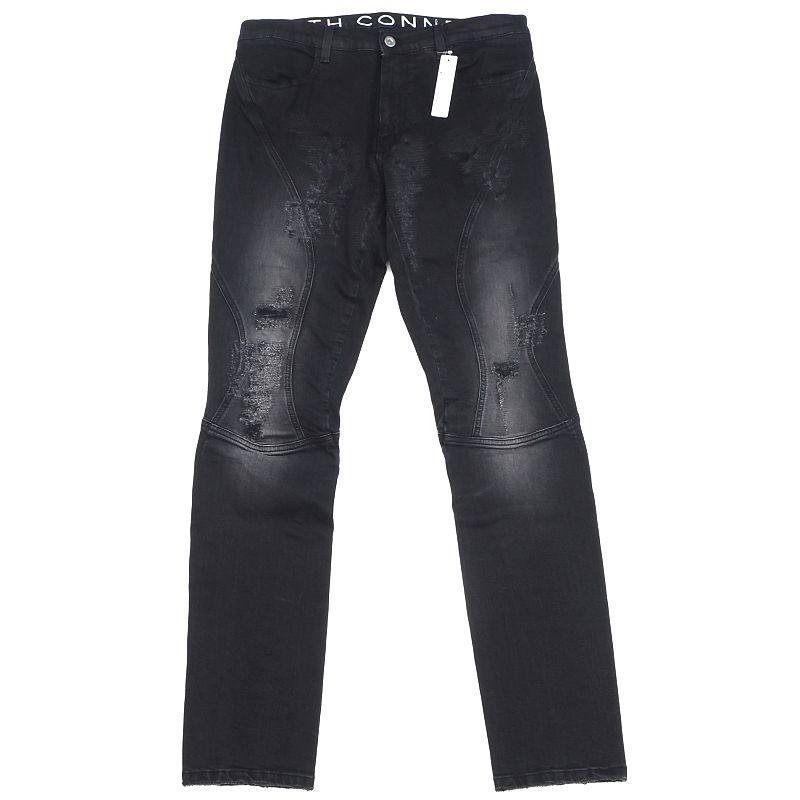 新品 19SS FAITH CONNEXION 売店 ストレッチデニム サイズ:31 ブラック イタリア製 RIP フェイスコネクション SYM 信頼 FAUG26 メンズ DENIM 5GHA2 RUNNING H02225 PANTS
