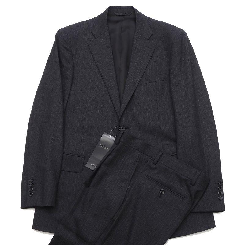新品 19AW D'URBAN ダーバン Zeal生地 スーツ A6 チャコール 定価120000円+税 微起毛 メンズ 2WHE/F01454/ASEP15/