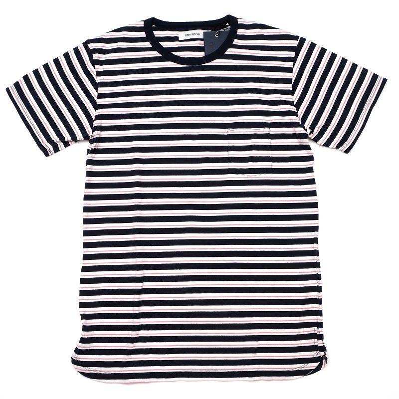 新品 nonnative Tシャツ サイズ:0 ネイビー NN-C3509 激安☆超特価 DWELLER S TEE COTTON E02427 ノンネイティブ 5F25 SYM SMCL HM 超歓迎された メンズ BORDER JERSEY