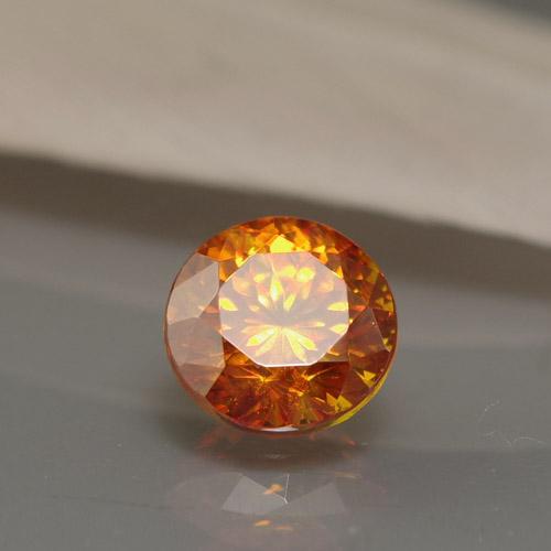 スファレライト1.53ct Bf-1648R 閃亜鉛鉱 稀少石 ルース レアストーン ジンクブレンド 天然石 スペイン 等軸晶系 オレンジ色 橙