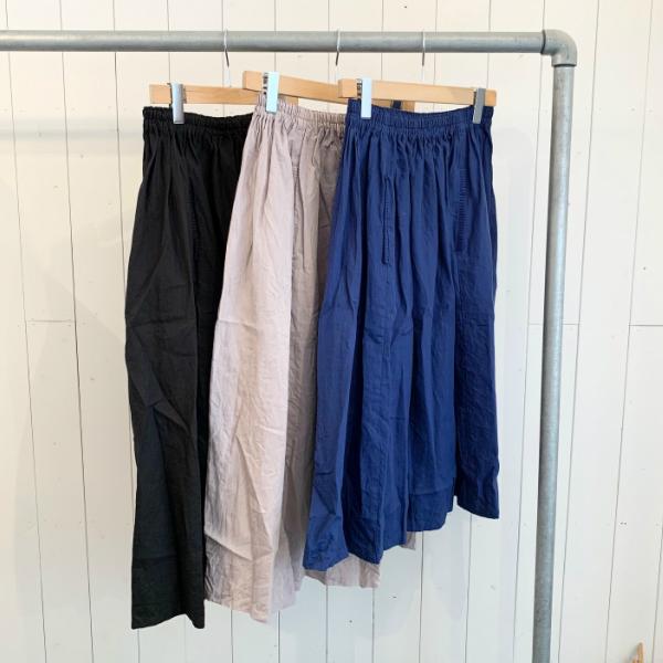 homspun 通販 激安 ホームスパン Newリネンバイオギャザースカート レディース 保証 送料無料
