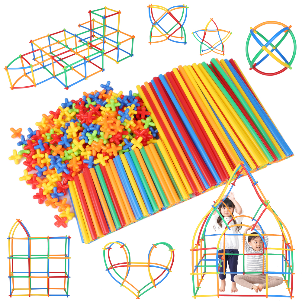 知育玩具 知育 おもちゃ 男の子 春の新作 女の子 ブロック 積み木 即納 物作りやアクティビティにも使える新感覚チューブ式ブロック ロンビー 560ピース Lon-Bi はめこみ 7色 公式