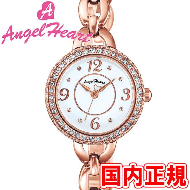 エンジェルハート レディース腕時計 クリスタルハニー 24mm ソーラー電池(太陽電池) ホワイトダイヤル/ピンクゴールド メタルブレス スワロフスキー Angel Heart CH24PW 安心の正規品 代引手数料無料 送料無料