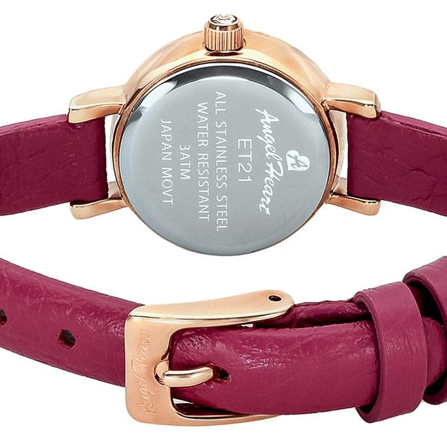 エンジェルハート レディース腕時計 エターナルクリスタル 21mm シルバーダイヤル/ピンクゴールド/ピンクパープルレザー スワロフスキー エタニティリングデザイン Angel Heart Eternal Crystalr ET21P-PK 安心の正規品 代引手数料無料