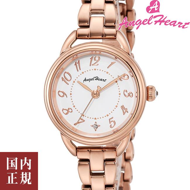 エンジェルハート 腕時計 レディース ファーストスター ソーラー ホワイト/ピンクゴールド/ステンレススチール Angel Heart FS25PG 安心の正規品 代引手数料無料 送料無料