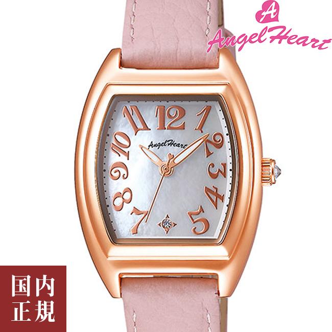 エンジェルハート 腕時計 レディース ファーストスター 26mm ソーラー ホワイトシェルダイヤル/ピンクゴールド/ピンクレザー Angel Heart FS26P-PK 安心の正規品 代引手数料無料 送料無料