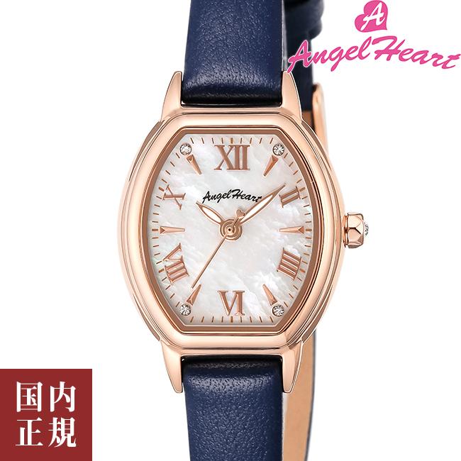 エンジェルハート 腕時計 レディース リュクス ソーラー ホワイトMOP/ピンクゴールド レザー Angel Heart LU23P-NV 安心の正規品 代引手数料無料 送料無料 あす楽 即納可能