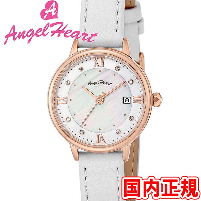 エンジェルハート 腕時計 レディース リュクス ソーラー ホワイトMOP/ピンクゴールド Angel Heart Luxe LU26P-WH 安心の正規品 代引手数料無料 送料無料 あす楽 即納可能